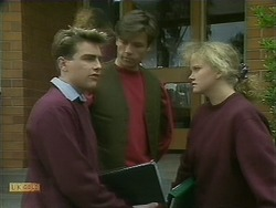 Nick Page, Mike Young, Sharon Davies in Neighbours Episode 1103