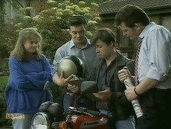Lee Maloney, Matt Robinson, Mike Young, Des Clarke in Neighbours Episode 1104