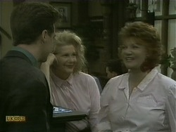 Paul Robinson, Madge Bishop, Gloria Lewis in Neighbours Episode 1104