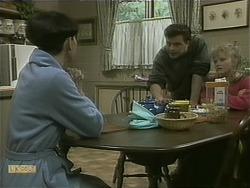 Hilary Robinson, Matt Robinson, Sharon Davies in Neighbours Episode 1105