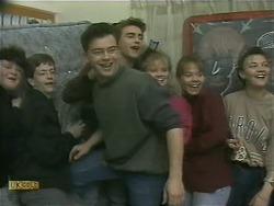 Matt Robinson, Nick Page, Sharon Davies, Lee Maloney in Neighbours Episode 1105