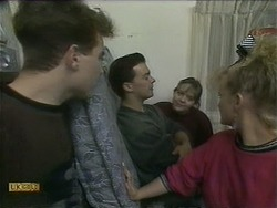 Nick Page, Matt Robinson, Lee Maloney, Sharon Davies in Neighbours Episode 1106