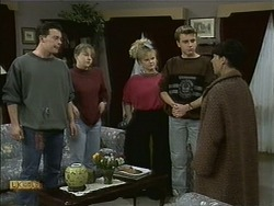 Matt Robinson, Lee Maloney, Sharon Davies, Nick Page, Hilary Robinson in Neighbours Episode 1106