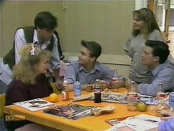 Sharon Davies, Mike Young, Nick Page, Lee Maloney, Matt Robinson in Neighbours Episode 1106