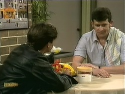 Mike Young, Des Clarke in Neighbours Episode 1107