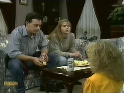 Matt Robinson, Lee Maloney, Sharon Davies in Neighbours Episode 1107