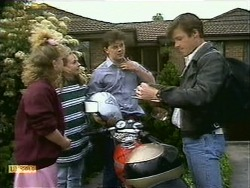 Sharon Davies, Lee Maloney, Matt Robinson, Mike Young in Neighbours Episode 1107