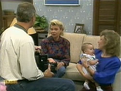 Jim Robinson, Helen Daniels, Baby Rhys, Beverly Marshall in Neighbours Episode 1108