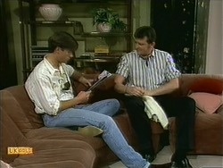 Mike Young, Des Clarke in Neighbours Episode 1108