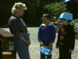 Helen Daniels, Toby Mangel, Lochy McLachlan in Neighbours Episode 1108