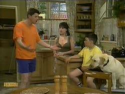 Joe Mangel, Kerry Bishop, Toby Mangel, Bouncer in Neighbours Episode 1110