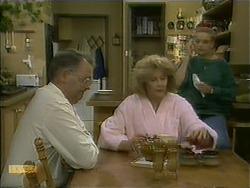 Harold Bishop, Madge Bishop, Bronwyn Davies in Neighbours Episode 1110