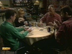 Paul Robinson, Melanie Pearson, Jim Robinson, Des Clarke in Neighbours Episode 1111