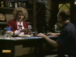 Madge Bishop, Wally Brown in Neighbours Episode 1112