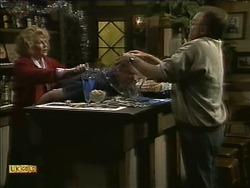 Madge Bishop, Wally Brown, Harold Bishop in Neighbours Episode 1112