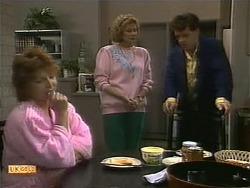 Gloria Lewis, Madge Bishop, Paul Robinson in Neighbours Episode 1112