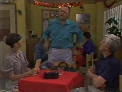 Hilary Robinson, Harold Bishop, Kenneth Muir in Neighbours Episode 1113