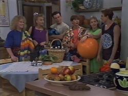 Sharon Davies, Bronwyn Davies, Matt Robinson, Todd Landers, Lee Maloney, Nick Page in Neighbours Episode 1113