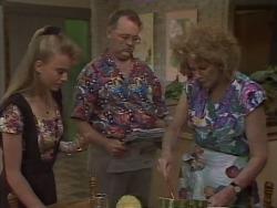 Bronwyn Davies, Harold Bishop, Madge Bishop in Neighbours Episode 1113