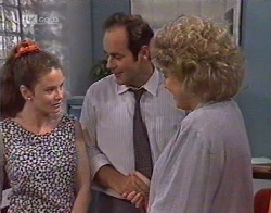 Julie Robinson, Philip Martin, Cheryl Stark in Neighbours Episode 2081