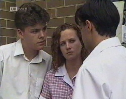 Michael Martin, Cody Willis, Rick Alessi in Neighbours Episode 2081