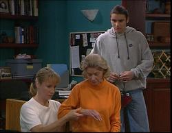 Ruth Wilkinson, Helen Daniels, Casper Mack in Neighbours Episode 2733