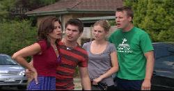 Rebecca Napier, Declan Napier, Elle Robinson, Oliver Barnes in Neighbours Episode 5441