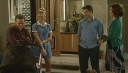 Paul Robinson, Donna Freedman, Declan Napier, Rebecca Napier in Neighbours Episode 5763
