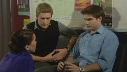 Libby Kennedy, Dan Fitzgerald, Declan Napier in Neighbours Episode 5768