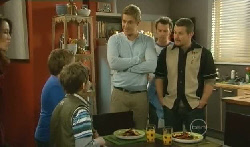Libby Kennedy, Callum Jones, Ben Kirk, Dan Fitzgerald, Lucas Fitzgerald, Toadie Rebecchi in Neighbours Episode 5770
