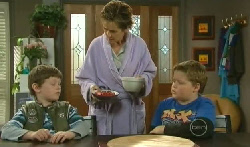Ben Kirk, Susan Kennedy, Callum Jones in Neighbours Episode 5770