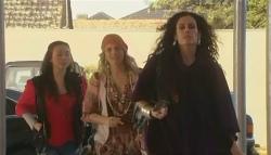 Sunny Lee, Donna Freedman, Saffron Jankievicz in Neighbours Episode 5783