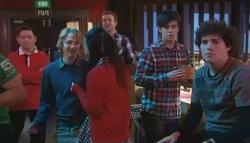 Robin Hester, Sunny Lee, Zeke Kinski, Harry Ramsay in Neighbours Episode 5784