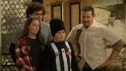 Sophie Ramsay, Harry Ramsay, Callum Jones, Toadie Rebecchi in Neighbours Episode 5805