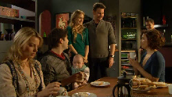 Donna Freedman, Declan Napier, India Napier, Elle Robinson, Lucas Fitzgerald, Paul Robinson, Rebecca Napier in Neighbours Episode 5810