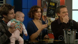 Declan Napier, India Napier, Rebecca Napier, Paul Robinson in Neighbours Episode 5810
