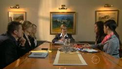 Toadie Rebecchi, Elle Robinson, Donna Freedman, Saffron Jankievicz in Neighbours Episode 5811
