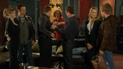 Elle Robinson, Lucas Fitzgerald, Toadie Rebecchi, Rebecca Napier, Paul Robinson, Donna Freedman, Ringo Brown in Neighbours Episode 5812