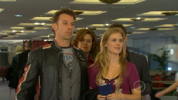 Lucas Fitzgerald, Rebecca Napier, Elle Robinson, Paul Robinson in Neighbours Episode 5812