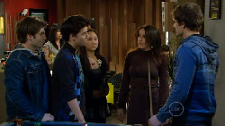 Declan Napier, Zeke Kinski, Sunny Lee, Libby Kennedy, Kyle Canning in Neighbours Episode 5813