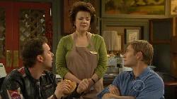 Lucas Fitzgerald, Lyn Scully, Dan Fitzgerald in Neighbours Episode 5814