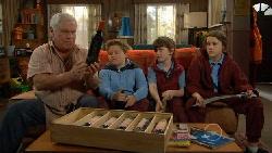 Lou Carpenter, Callum Jones, Ben Kirk, Sophie Ramsay in Neighbours Episode 5814