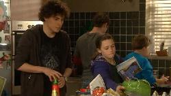 Harry Ramsay, Declan Napier, Sophie Ramsay, Callum Jones in Neighbours Episode 5816