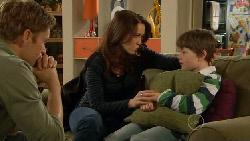 Dan Fitzgerald, Libby Kennedy, Ben Kirk in Neighbours Episode 5820