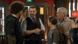 Harry Ramsay, Toadie Rebecchi, Sophie Ramsay, Lou Carpenter in Neighbours Episode 5824