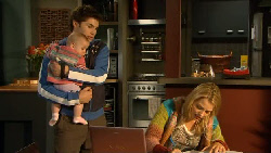 Declan Napier, India Napier, Donna Freedman in Neighbours Episode 5825