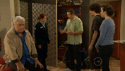 Lou Carpenter, Constable Simone Page, Toadie Rebecchi, Harry Ramsay, Kate Ramsay in Neighbours Episode 5825