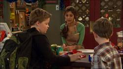 Callum Jones, Jumilla Chandra, Ben Kirk in Neighbours Episode 5826