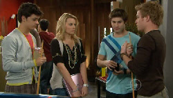 Zeke Kinski, Donna Freedman, Declan Napier, Ringo Brown in Neighbours Episode 5829