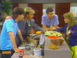 Mike Young, Scott Robinson, Des Clarke, Charlene Mitchell in Neighbours Episode 0662